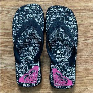 Roxy rubber slippers